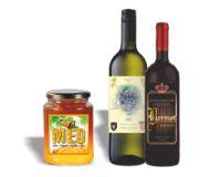 Etikete za vino, rakiju, ulje, likere, med i sl. naljepnice.