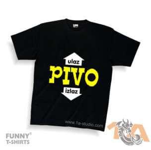 Majice za kraj škole: PIVO ulaz-izlaz
