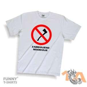 Majice za kraj škole: Zabranjeno sekiranje