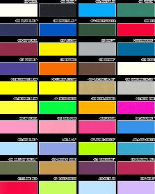 Paleta boja folija za termotisak