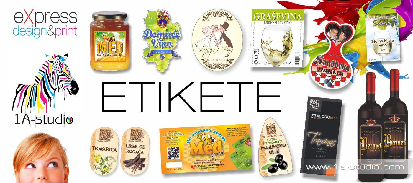 etikete za vino • etikete za rakiju • etikete za liker • etikete za med • etikete za maslinovo ulje • etikete za sirup • etikete za sok • etikete za marmeladu • etikete za kreme • etikete za džem • etikete za ajvar • etikete za zimnicu • etikete za deterdžente • etikete za torte • etikete za boce • etikete za limenke • etikete za kanistre • etikete za ambalažu • etikete za sve što vam treba ...