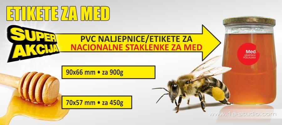 Cijena etikete za nacionalne staklenke za med. Naljepnice.