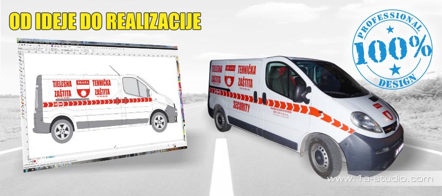 Naljepnice za auto. Folije za vozila. Primjeri nekih naših oslikavanja vozila.