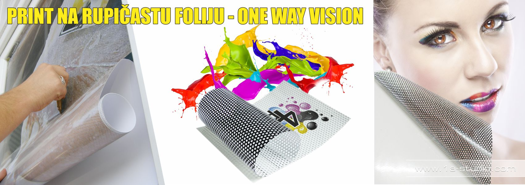 Usluga print na rupičastu foliju - One Way Vision.